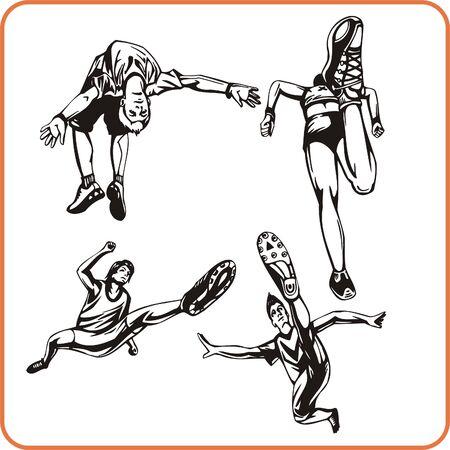 Jump. Extreme sport. Vector illustration. Vinyl-ready.  Stock Vector - 8070198