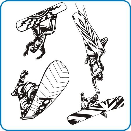 Snowboard. Extreme sport. Vector illustration Vector