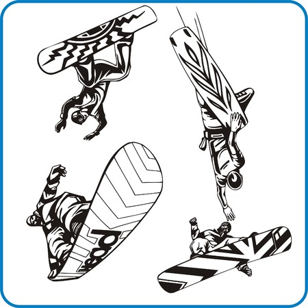 Snowboard. Extreme sport. Vector illustration