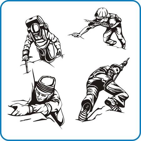 Rock Climber. Extreme sport. Vector illustration. Vinyl-ready. Stock Vector - 8070206