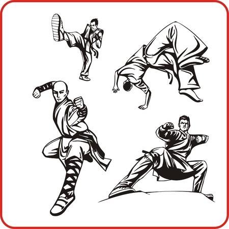 Karate. Extreme sport. Vector illustration. Vinyl-ready. Vector