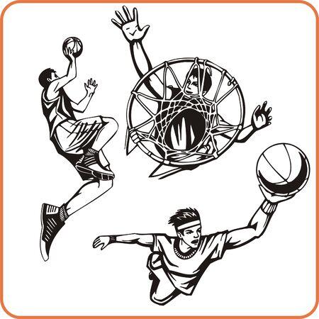 Basketboll. Extreme sport. Vector illustration. Vinyl-ready.  Stock Vector - 8070205