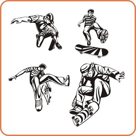 Skateboard. Extreme sport. Vector illustration. Vinyl-ready. Stock Vector - 8070203