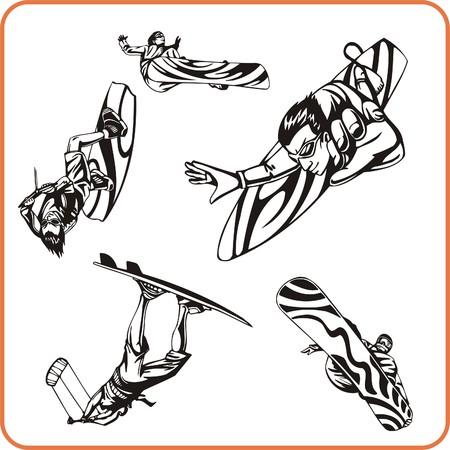 Extreme sport. Vector illustration. Vinyl-ready. Stock Vector - 8070263