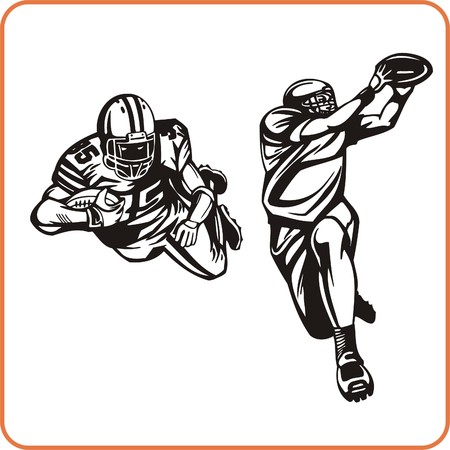 nfl football: American Football Player vector illustration.