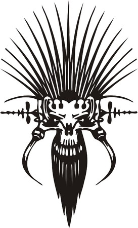 Cyber Skull - illustration. Ready for vinyl cutting. Stock Vector - 8132179