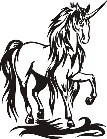 cutting horse: Horse. illustration ready for vinyl cutting. Illustration