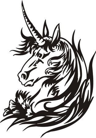 Horse illustration ready for vinyl cutting. Stock Vector - 8199759