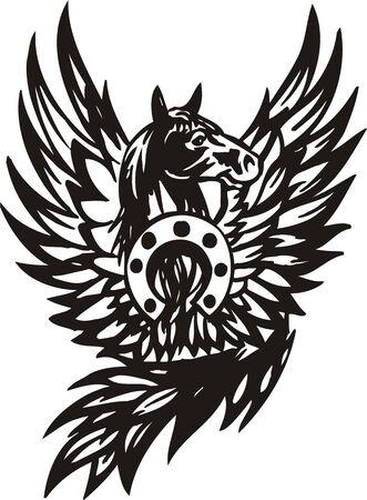 Horse.  illustration ready for vinyl cutting. Vector