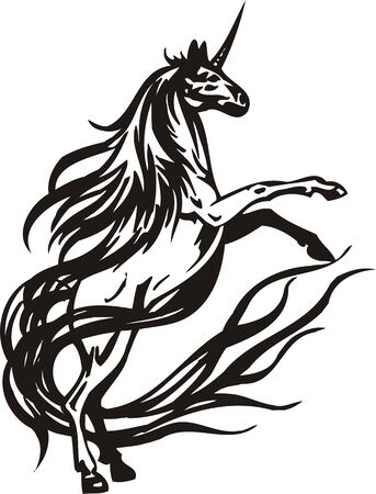 Horse  illustration ready for vinyl cutting. Vector
