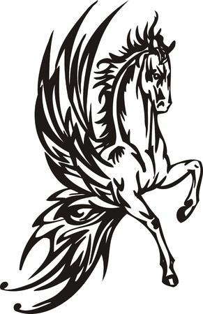 Horse illustration ready for vinyl cutting. Stock Vector - 8199867