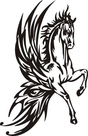 Horse illustration ready for vinyl cutting. Stock Vector - 8199867