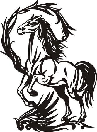 Horse. illustration ready for vinyl cutting.