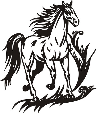 Horse.  illustration ready for vinyl cutting. Stock Vector - 8199807