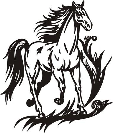 Horse.  illustration ready for vinyl cutting. Stock Vector - 8199807