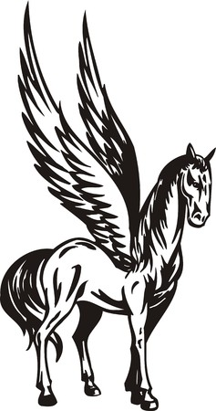 Horse. illustration ready for vinyl cutting. Vector