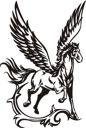 Horse illustration ready for vinyl cutting.