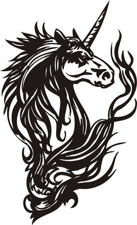 animal leg: Horse.  illustration ready for vinyl cutting.