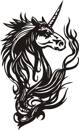 Horse. illustration ready for vinyl cutting. Vector Illustration