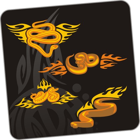 Snake.  illustration. Ready for vinyl cutting. Stock Vector - 8199675