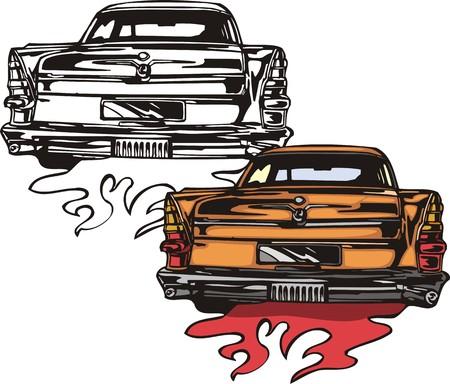 tiges: La voiture orange de marque