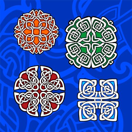 gaelic: Celtic ornamental design.  Illustration. Vinyl-Ready. Illustration
