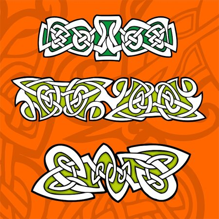 paganism: Celtic ornamental design.   Illustration. Vinyl-Ready.