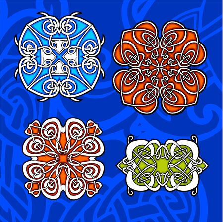 paganism: Celtic ornamental design.  Illustration. Vinyl-Ready. Illustration