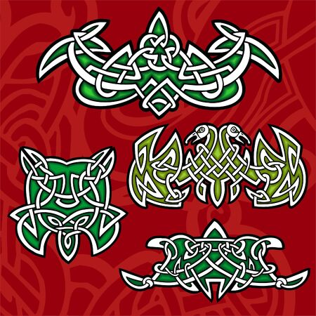 Celtic ornamental design. Illustration. Vinyl-Ready.