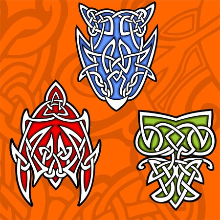 Celtic ornamental design.   Illustration. Vinyl-Ready. Stock Vector - 8268900