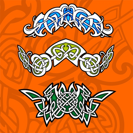 gaelic: Celtic ornamental design.   Illustration. Vinyl-Ready.