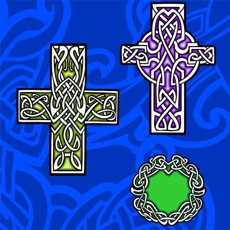 keltische muster: Keltische ornamental Design.  R Illustration. Vinyl-Ready.