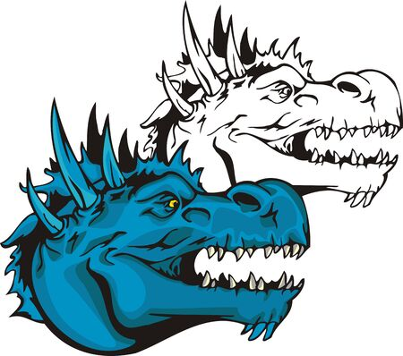 Dragons.illustration ready for vinyl cutting. Vector
