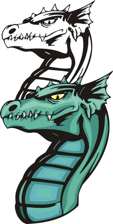 Dragons.Vector illustration ready for vinyl cutting. Vector