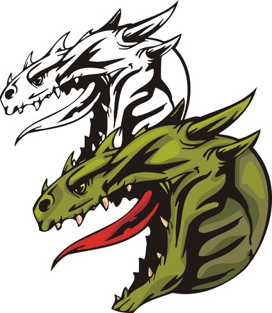 Dragons.illustration ready for vinyl cutting. Illustration