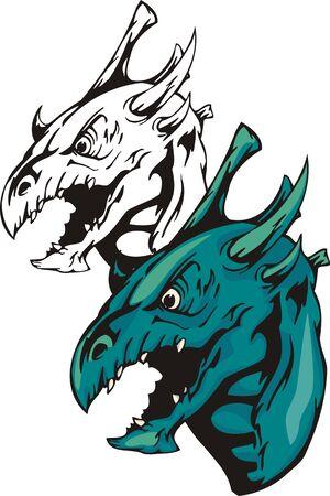 Dragons.Vector illustration ready for vinyl cutting. Vector