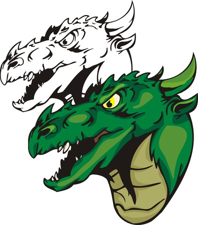 anger: Dragons.illustration ready for vinyl cutting. Illustration