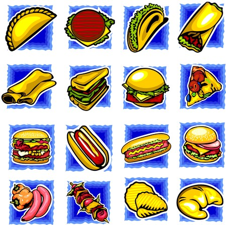 Fast food.illustration ready for vinyl cutting. Vector