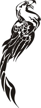 Eagle - predatory bird. illustration. Ready for vinyl cutting.