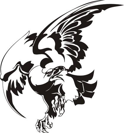 Eagle - predatory bird. illustration. Ready for vinyl cutting. Stock Vector - 8332261