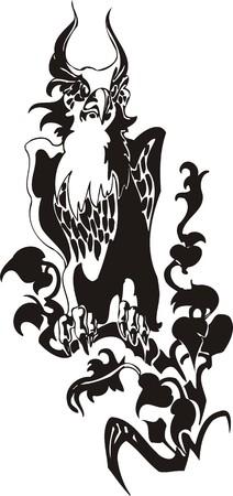 Eagle - predatory bird. illustration. Ready for vinyl cutting. Vector