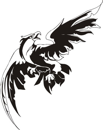 decal: Eagle - predatory bird. illustration. Ready for vinyl cutting.