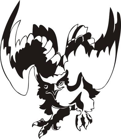 Eagle - predatory bird. illustration. Ready for vinyl cutting. Stock Vector - 8332262