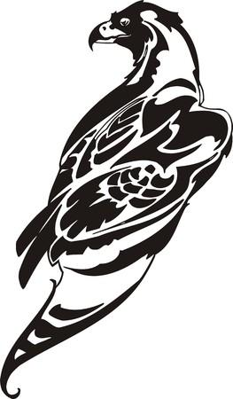 Eagle - predatory bird. illustration. Ready for vinyl cutting. Stock Vector - 8332275