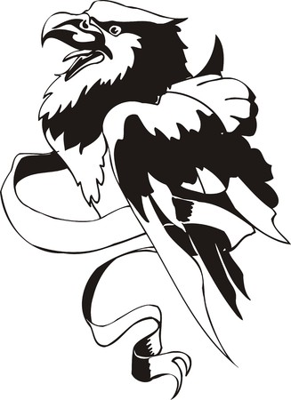 fenix: Eagle - predatory bird. illustration. Ready for vinyl cutting.