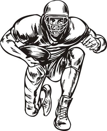 Football.  illustration ready for vinyl cutting. Stock Vector - 8376438