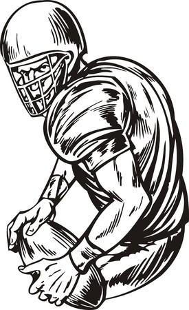 Football illustration ready for vinyl cutting. Stock Vector - 8376591