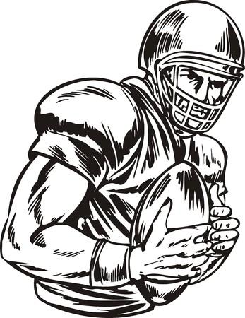 Illustration de football est prête pour la découpe de vinyle.