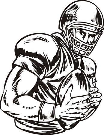 Football illustration ready for vinyl cutting. Vector
