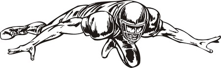 cleats: Football illustration ready for vinyl cutting.